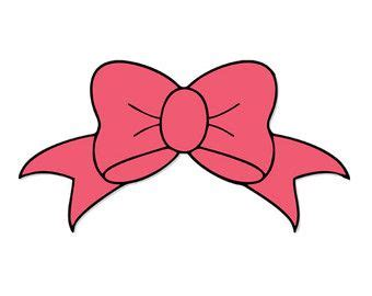 cricut bow bow decal silhouette svg dxf file instant