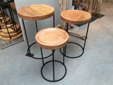 Tisch Rund Metall by 3er Set Beistelltisch Rund Schwarz Beistelltisch Metall