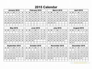 free printable yearly calendar 2015 2017 printable calendar With 2015 yearly calendar template in landscape format