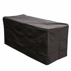 Outdr greatroom company black rectangular vinyl patio for Outdoor furniture covers in black