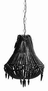 Lustre Metal Noir : lustre contemporain style baroque perle pampilles bois noir m tal m tal torsad ~ Teatrodelosmanantiales.com Idées de Décoration