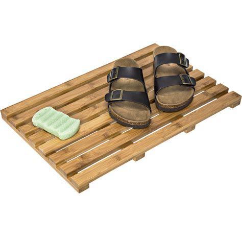 bamboo shower mat bamboo bath mat in shower and bath mats