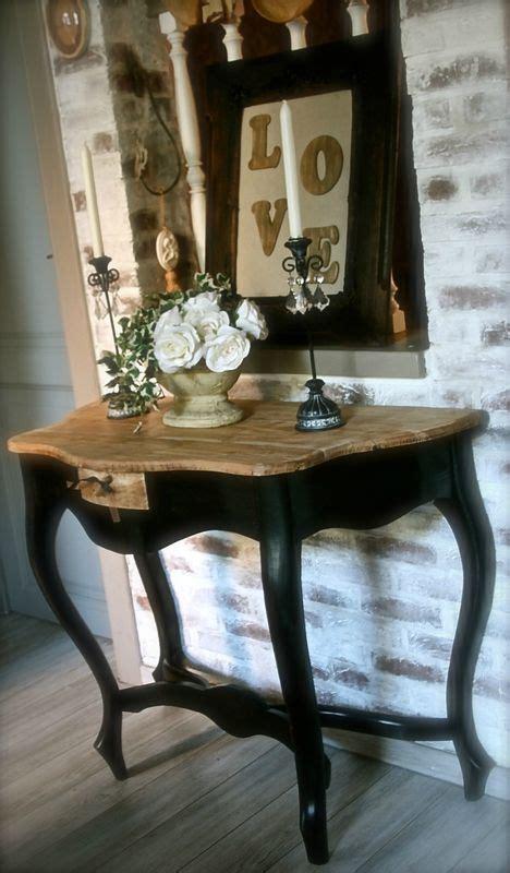 superbe ancienne table console stylis 233 e en bois massif sur