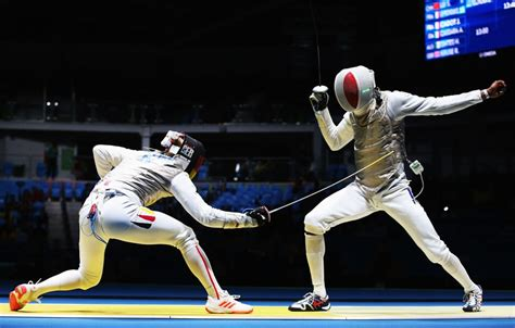 fencing dropped call   bizarre olympic moments