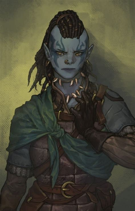 female  orc ranger rogue character portraits