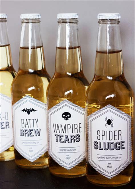 halloween printable beverage labels