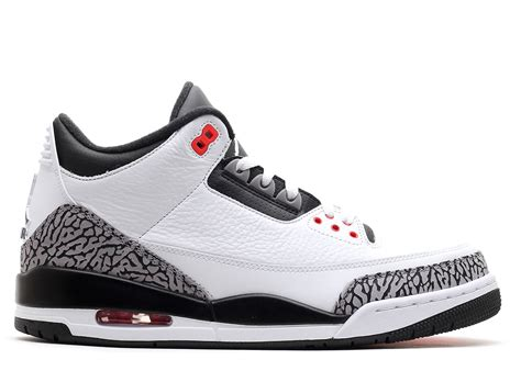 Air Jordan 3 Retro Infrared 23 Whiteblack Cmnt Gry