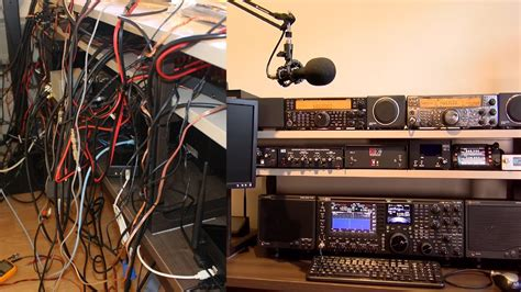 Ham Radio Wiring by Ham Shack Hiding Wires And Cable Management
