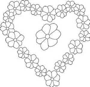 hearts and flowers coloring pages for girls coloring