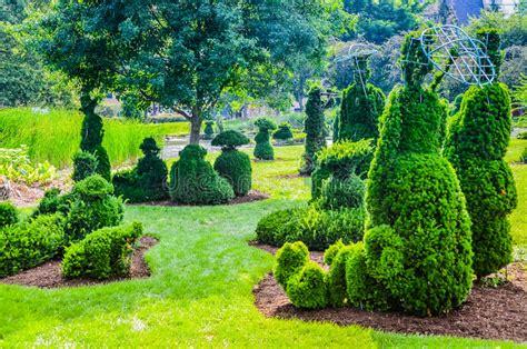 The Garden Columbus Ohio by Topiary Garden Columbus Ohio Stock Image Image Of