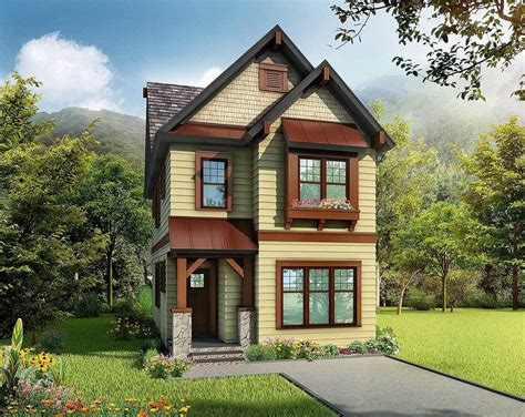 Cleverly-designed Narrow Lot House Plan