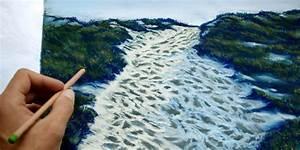 Peindre Au Pastel : apprendre peindre un paysage au pastel sec chemin de bord de mer apprendre dessiner avec ~ Melissatoandfro.com Idées de Décoration