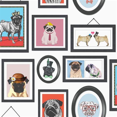 pugs life pug dog wallpaper  holden decor