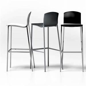 Tabouret 4 Pieds : tabouret de bar en m tal et bois laqu hauteur 80 cm seven 4 pieds tables chaises et ~ Teatrodelosmanantiales.com Idées de Décoration