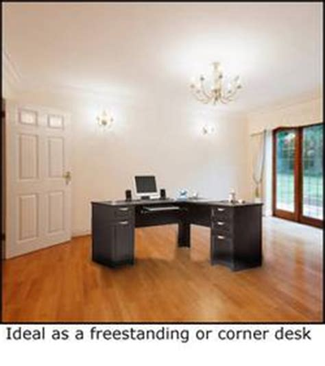 Realspace Magellan L Shaped Desk Espresso by L Shaped Computer Desk Espresso 30 Quot H X 58 3 4 Quot W X 18 3 4
