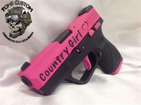 country girl pink taurus slim  toms custom guns
