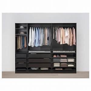 Offenes Schranksystem Ikea : pax wardrobe black brown hamn s black blue ikea ~ A.2002-acura-tl-radio.info Haus und Dekorationen