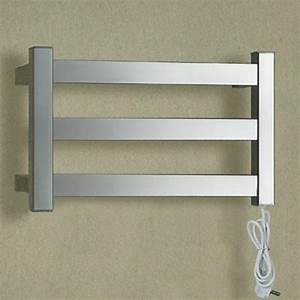 wide electric wall towel rail stainless steel heater for