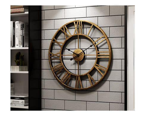 Target/home/decor style ideas/decorative clocks : New 40 cm Modern 3D Large Retro Black Iron Art Hollow Wall ...