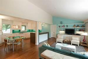 Salon Vert D Eau : 1001 conseils et id es pour une cuisine ouverte sur le salon ~ Zukunftsfamilie.com Idées de Décoration