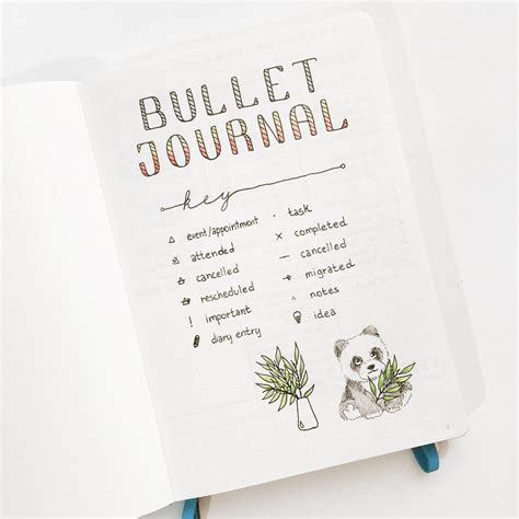 Simple Bullet Journal Key Ideas  Sheena Of The Journal