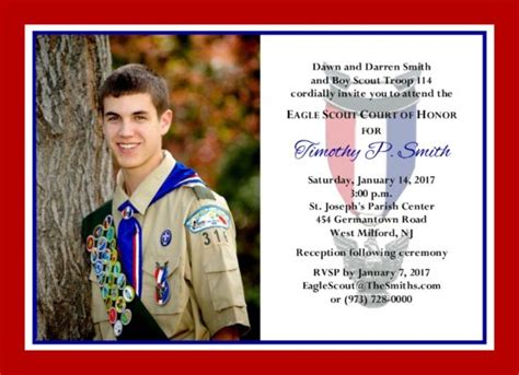 product categories eagle scout court  honor invitations