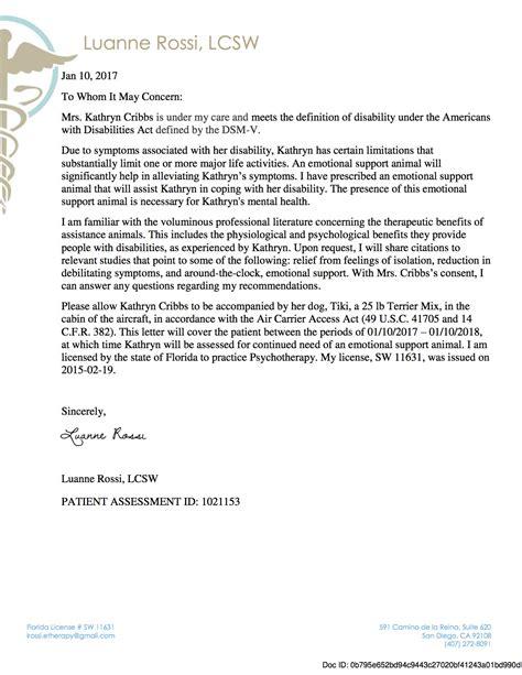 emotional support animal letter housing airline industry emotional support animal fraud