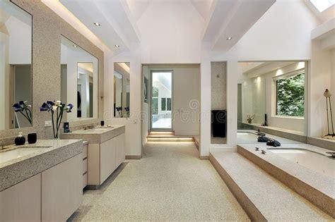 luxury master bath  step  tub stock image image