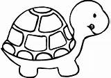 Turtle Coloring Pages Printable Easy Turtles Preschool Sheets Animal Bestcoloringpagesforkids Mouse Cat sketch template