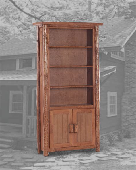 rustic bookcase with doors rustic 6 bookcase w doors pecan