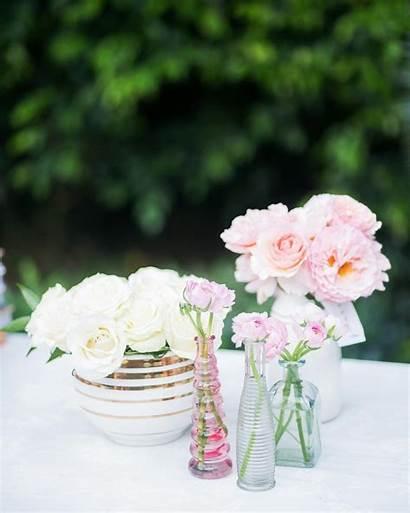 Shower Bridal Pink Flower Arrangements Decorations Desserts