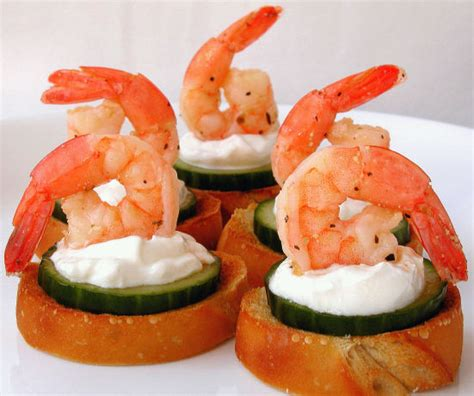 canapes with prawns marinated shrimp canapes recipe food com