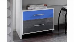 Schreibtisch Weiß Grau : schreibtisch colori wei inkl rollcontainer blau grau ~ Frokenaadalensverden.com Haus und Dekorationen