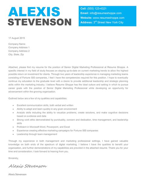 Cover Letter Template by The Cover Letter Work Stuff Creative Cover