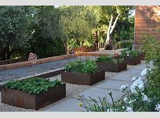planter box ideas landscape contemporary with raised bed