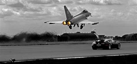 10.95 m (35 the bugatti veyron has a total of 10 radiators. Eurofighter Typhoon vs. Bugatti Veyron 1800 × 850 : MilitaryPorn