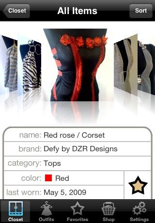 Touch Closet App by 5 Best Wardrobe Management Software For Managing Clothes