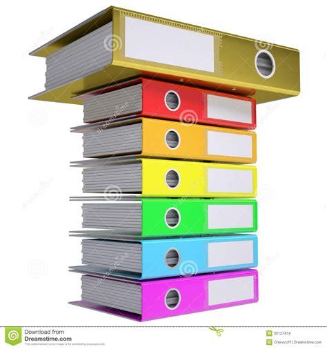 d馗or bureau une pile de dossiers de bureau dossier d 39 or sur le dessus illustration stock image 30127474