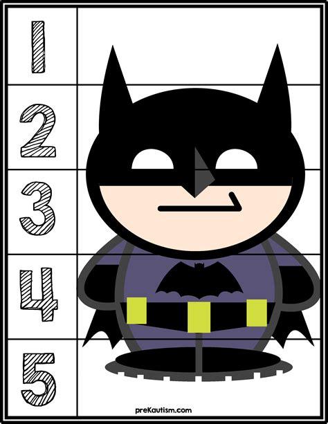 batman 1 5 counting puzzle prekautism 450 | 5 puzzle batman