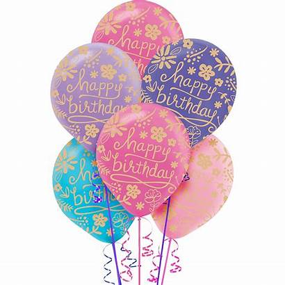 Balloons Birthday Floral 20ct Party Icon Email