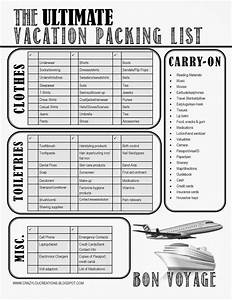 crazylou the ultimate vacation packing list