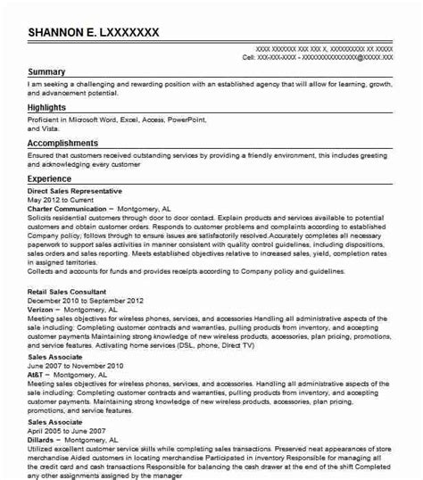 Direct Sales Resume by Direct Sales Representative Objectives Resume Objective