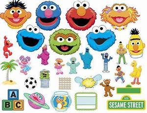 Sesame Street Characters, Frames, Elements And Head Clip ...