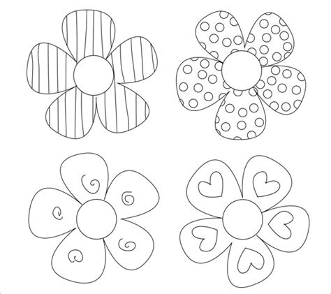 Paper Flower Template Free by 14 Paper Flower Templates Pdf Doc Psd Vector Eps