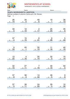 grade  maths worksheets  printable  images
