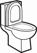 Toilet Clipart Clip Transparent Bathroom Pinclipart Please Coloring sketch template