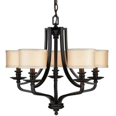 Hton Bay 5 Light Oil Rubbed Bronze Chandelier Fabric