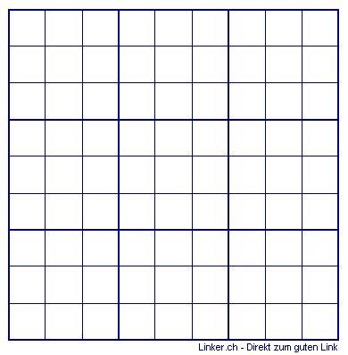 sudoku leer vorlage raster leere vorlagen