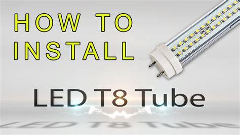 How Install Led Tube Youtube