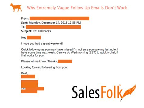 extremely vague follow  emails dont work salesfolk